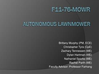 F11-76-MOWR Autonomous Lawnmower