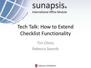 Tech Talk: How to Extend Checklist Functionality