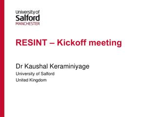 RESINT – Kickoff meeting