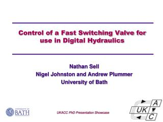 Control of a Fast Switching Valve for use in Digital Hydraulics