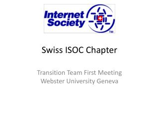 Swiss ISOC Chapter
