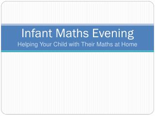 Infant Maths Evening