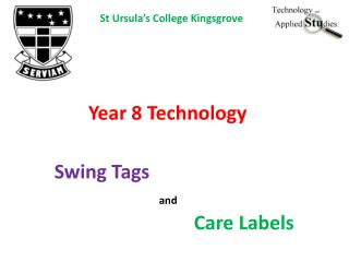 Swing Tags and Care Labels