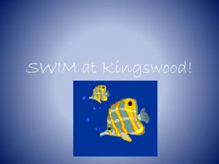 SWIM at  Kingswood !