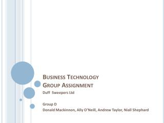 Business Technology Group Assignment