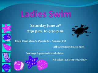 Ladies Swim
