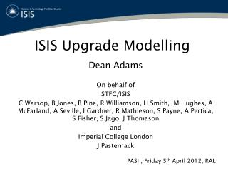 ISIS Upgrade Modelling