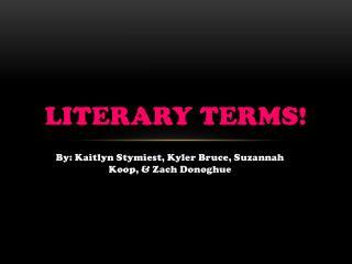Literary terms!