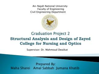 Graduation Project 2 Structural Analysis and Design of Zayed College for Nursing and Optics