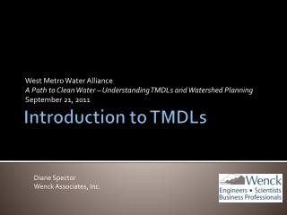 Introduction to TMDLs