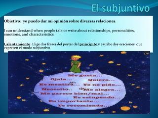 El  subjuntivo