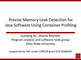Precise Memory Leak Detection for Java Software Using Container Profiling
