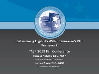Determining Eligibility Within Tennessee's RTI² Framework