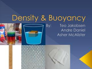 Density & Buoyancy