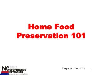 Home Food Preservation 101