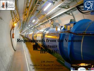 Requirements from the Vacuum Systems HE-LHC