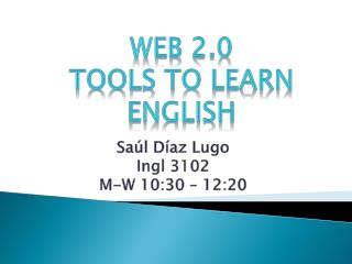 Web 2.0  Tools to learn  english