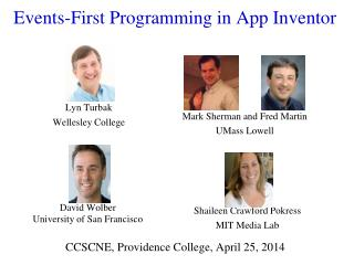 Events-First Programming in App Inventor