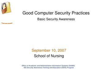 Good Computer Security Practices Basic Security Awareness