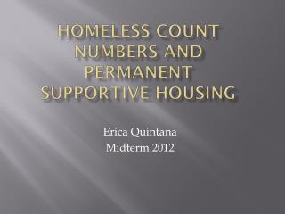 Homeless Count  Numbers and Permanent Supportive Housing