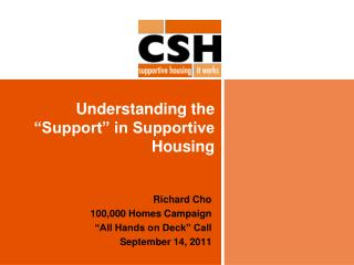 "Understanding the ""Support"" in Supportive Housing"