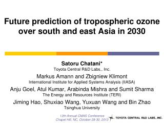Future prediction of  tropospheric  ozone over south and east Asia in 2030