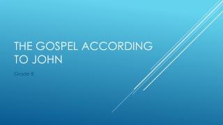 The Gospel of Mark Chapter 3