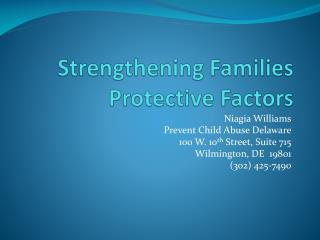 Strengthening Families Protective Factors