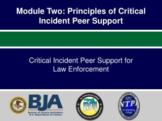 Module Two:  Principles of Critical Incident Peer  Support