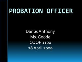 Probation Officer