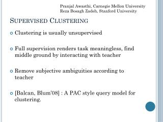 Supervised Clustering