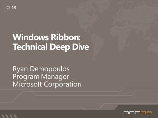 Windows Ribbon: Technical Deep Dive