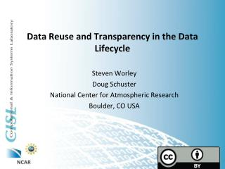 Data Reuse and Transparency in the Data Lifecycle