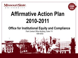 Affirmative Action Plan 2010-2011