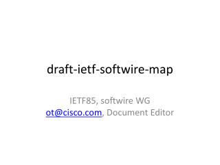 draft- ietf - softwire -map