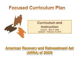 American Recovery and Reinvestment Act (ARRA) of 2009