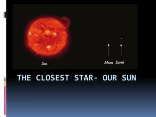 The Closest Star- Our Sun