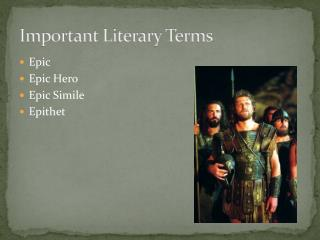 Important Literary Terms