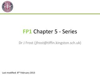 FP1  Chapter 5 - Series