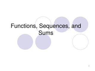 Functions, Sequences, and Sums