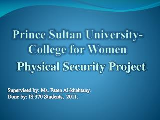 Prince Sultan University- College for Women