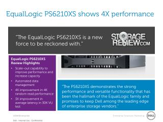 EqualLogic PS6210XS shows 4X performance