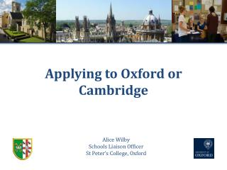 Applying to Oxford or Cambridge