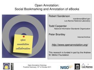 Open Annotation: Social Bookmarking and Annotation of eBooks