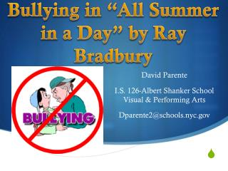 "Bullying in ""All Summer in a Day"" by Ray Bradbury"