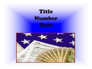 Title N umber Date