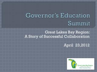 Governor's Education Summit