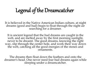 Legend of the Dreamcatcher