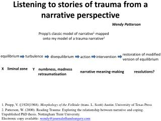 Listening to stories of trauma from a narrative  perspective