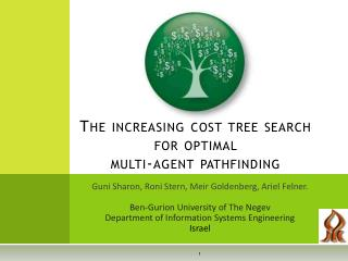 The increasing cost tree search for optimal multi-agent pathfinding